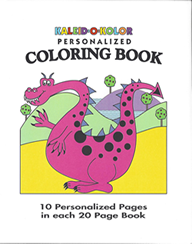 Personalized Dinosaur Coloring Book