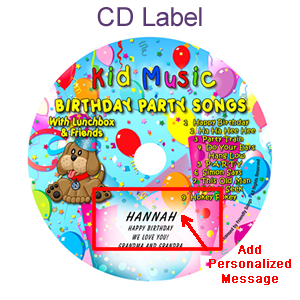 Birthday Party Songs CD