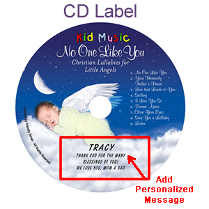 No One Like You Personalized Christian Lullaby Music CD